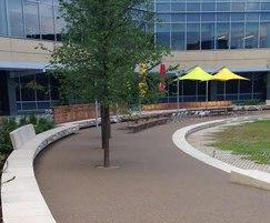 Resin bound pathways - new amphitheatre at NY campus