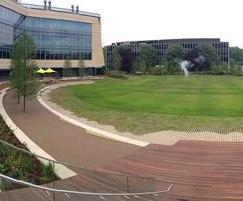 Resin bound surfacing for amphitheatre