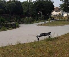 Resin bound paths, Mary Ellen Kramer Park, Paterson