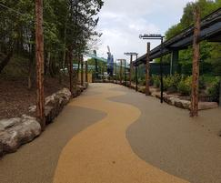 Porous resin bound walkway surface - Alton Towers