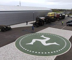 Resin bound Addacolor logo for Isle of Man Motor Museum