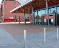 Terrabound resin surfacing outside retail store