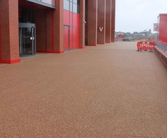 Resin bound surfacing - Liverpool FC, Anfield