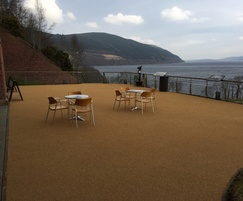 Surfacing for outdoor cafe area