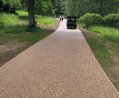 Terrabase Rustic resin bound porous paving