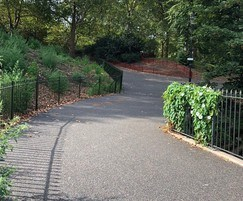 Porous surfacing for park pathways