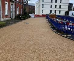Access roads with Addastone resin bonded surfacing