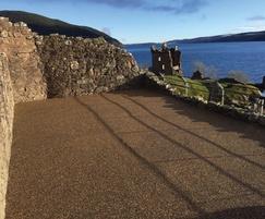 Terrabase Rustic surfacing, Urquhart Castle, Loch Ness