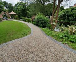Resin-bound pathways for private garden in North Wales