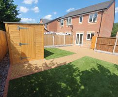 Approximately 30m2 of Terrabase Rustic was installed