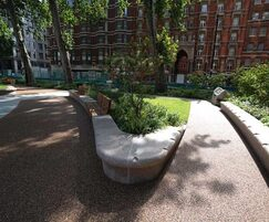 Terrabase Rustic is a permeable, resin-bound surfacing
