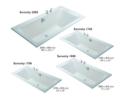 Serenity double ended rectangular bath