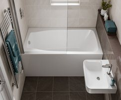 Studio compact bath with with extra depth