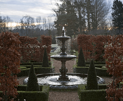 Fountain and parterre