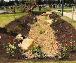 Water feature constructed for Cheltenham Crematoria