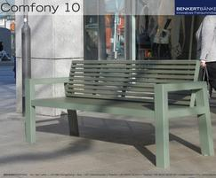 Comfony 10 bench with armrests