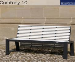 Comfony 10 bench without armrests