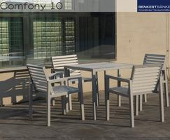 Comfony 10 chairs with armrests