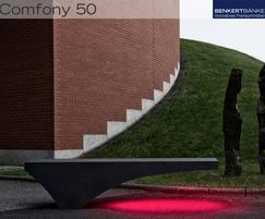 Comfony 50 stool bench, no armrests, LED
