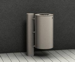 Benkert - 230/240 pole mounted litter bin