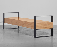 Sonborg 30 H bench with arms for public spaces