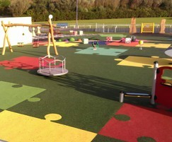 Colourful playground wet pour surfacing