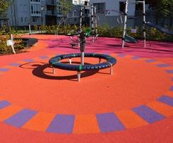 Bright playground surfacing