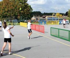 Steel tennis nets & multi sport goal