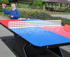 Heavy duty outdoor table tennis table
