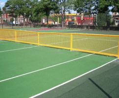 Steel tennis net