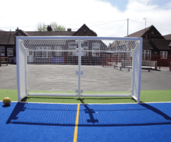 Galvanised and polyester powder coated goal