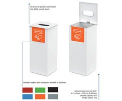 Vespucci bin for PPE waste - options