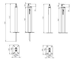 Cabral sanitisation point - dimensions