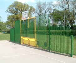 Steel MUGA goals and fencing