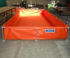 Large steel framed bund