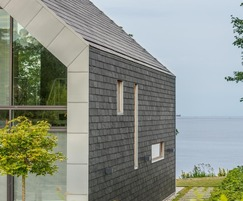 Natural slate is used for roofing and cladding