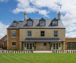 The 6-bedroom houses feature CUPA 12 R Excellence slate