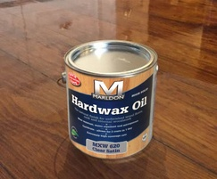 Honduras pitch pine boards sealed with 3 coats Hardwax