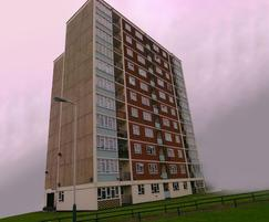 Romford tower block coated with Nu-Guard® NRG