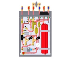 AquaHeat Twin Plate heat interface unit (HIU) diagram