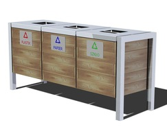 Recycling bins for outdoor or indoor use