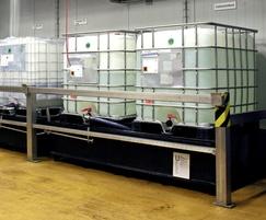 HDPE IBC reception station - 1200 litre bund capacity