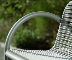 Siesta outdoor bench, detail