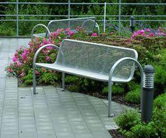 Siesta contemporary-style outdoor bench