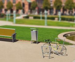 Bella Via bench, litter bins and cycle stand