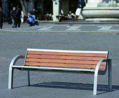 Stella contemporary outdoor bench
