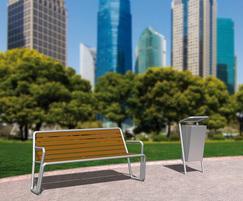 Bella Via bench and litter bin