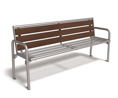 Charisma Pagwood and wire mesh bench