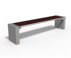 Gloria benches can be fitted with or without a backrest