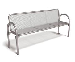 Siesta wire mesh bench with backrest